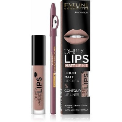 Eveline Oh My Lips Liquid Matt Lip Kit 08 Lovely Rose 4,5 ml + 1 stk