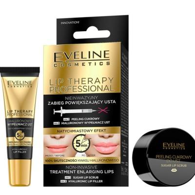 Eveline Lip Therapy Sugar Lip Scrub & Lip Filler 7 ml + 12 ml