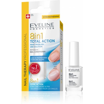 Eveline Nail Therapy 8in1 Total Action Nail Conditioner 12 ml