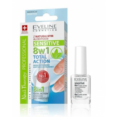 Eveline Nail Therapy 8in1 Total Action Sensitive Nail Hardener 12 ml