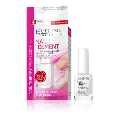 Eveline Nail Therapy Nail Cement Conditioner & Base Coat 12 ml