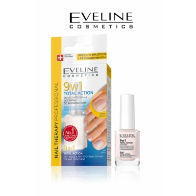 Eveline Nail Therapy 9in1 Total Action Toe Nail Treatment 12 ml
