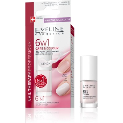Eveline Nail Therapy 6in1 Care & Colour French 5 ml