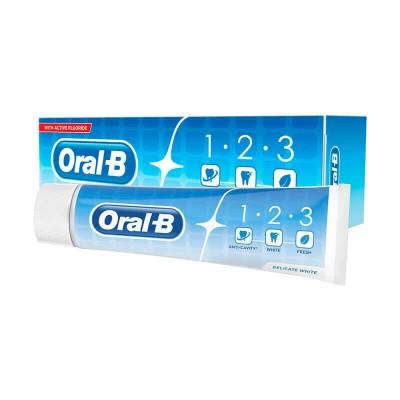 Oral-B 123 Delicate White Toothpaste 100 ml