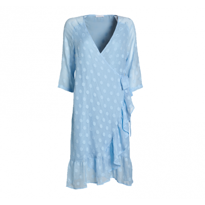 Everneed Summer Soft Blue Wrap-Kjole Small