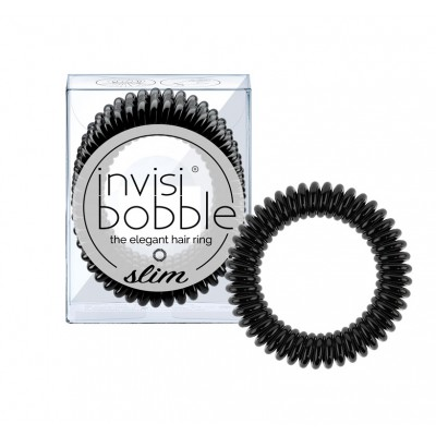 Invisibobble Slim True Black 3 kpl