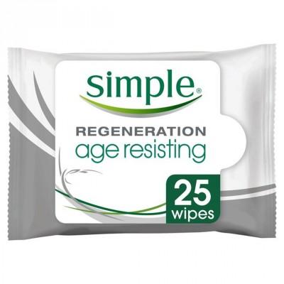 Simple Regenerating Age Resisting Wipes 25 pcs