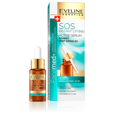 Eveline Facemed+ 100% Hyaluronic Acid Active Serum Instant Lifting 20 ml