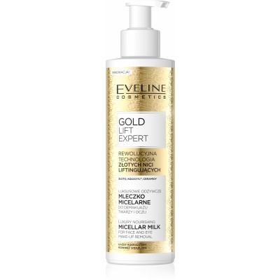 Eveline Gold Lift Expert Micellar Milk Make-Up Remover 200 ml
