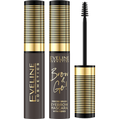 Eveline Brow & Go Eyebrow Mascara 02 Dark 6 ml