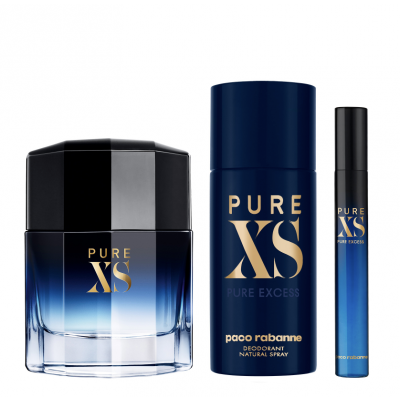 Paco Rabanne Pure XS EDT & Mini & Deospray 50 ml + 10 ml + 150 ml