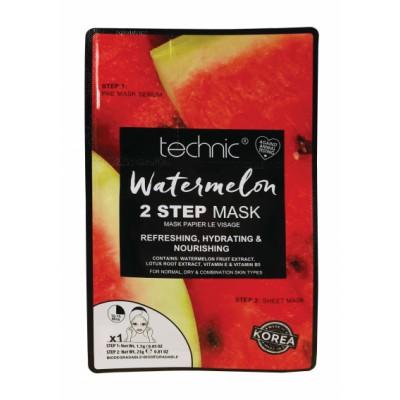 Technic 2 Step Sheet Mask Watermelon 1 kpl