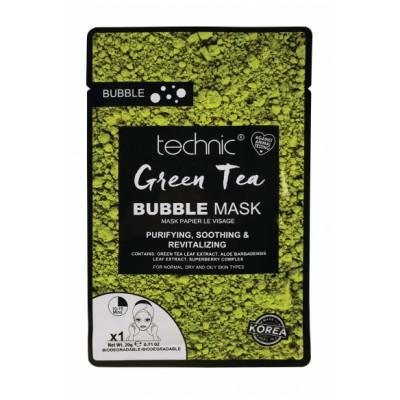 Technic Bubble Tea Sheet Mask Green Tea 1 kpl
