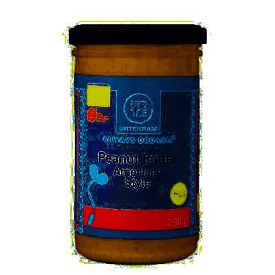 Urtekram Peanut Butter American Style Øko 230 g