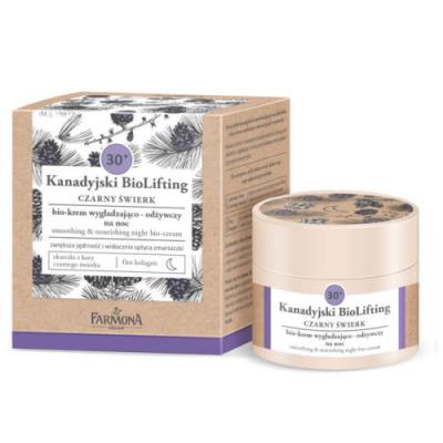 Farmona Canadian Biolifting 30+ Black Spruce Smoothing & Nourishing Night Cream 50 ml