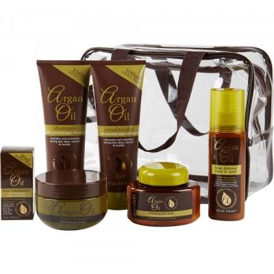 Argan Oil Gift Set 3 x 250 ml + 220 ml + 150 ml + 50 ml + 1 st