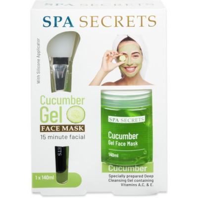Spa Secrets Cucumber Gel Face Mask Giftset 140 ml + 1 stk