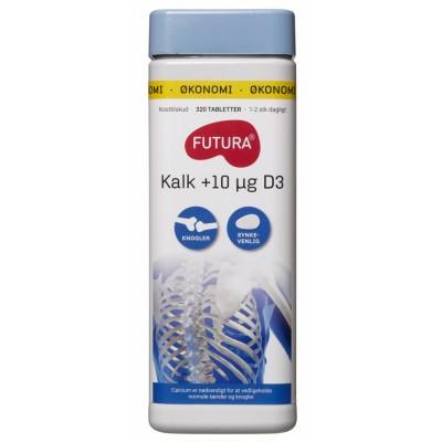 Futura Kalk + D3-Vitamin 320 stk