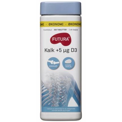 Futura Kalk + D3-Vitamin 300 kpl