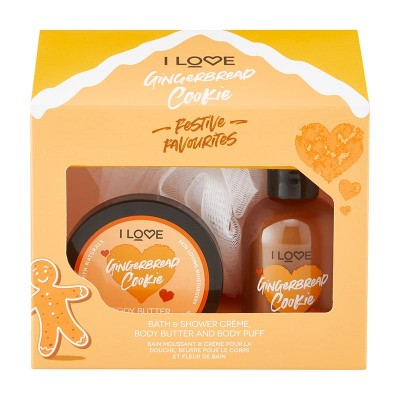 I Love Cosmetics Gingerbread Cookie Festive Favourites 100 ml + 50 ml + 1 pcs