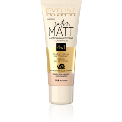 Eveline Satin Matt Mattifying & Covering Foundation 103 Natural 30 ml