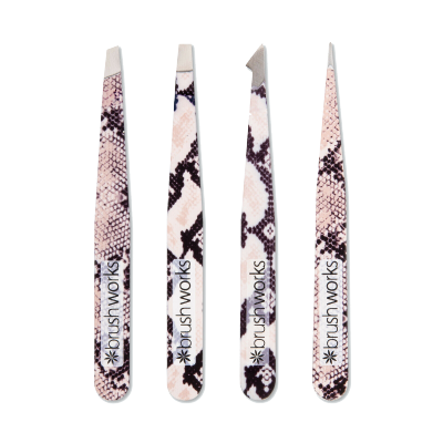 Brush Works Combinaton Tweezer Set Snake 4 kpl