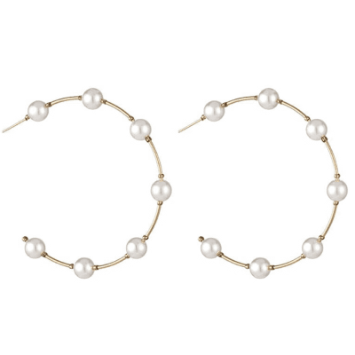 Everneed Kenya Hoop Earrings 4,5 cm