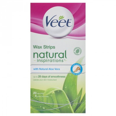 Veet Natural Leg Wax Strips 20 kpl