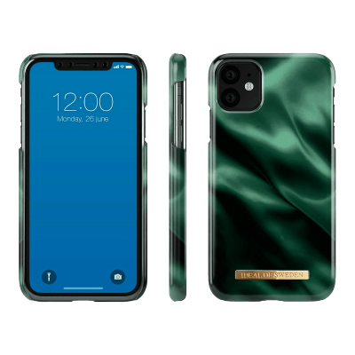 iDeal Of Sweden Fashion Case iPhone 11 Emerald Satin iPhone 11
