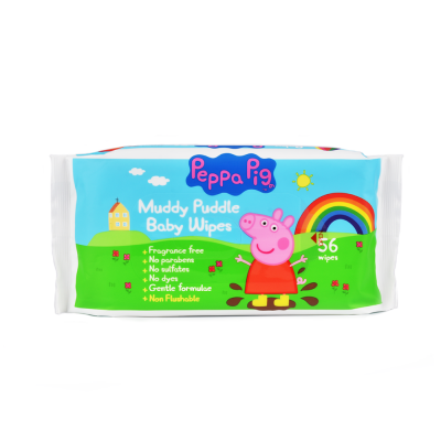 Peppa Pig Muddy Puddle Baby Wipes 56 st