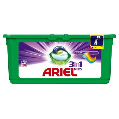 Ariel Pods 3-in-1 Color 28 pcs