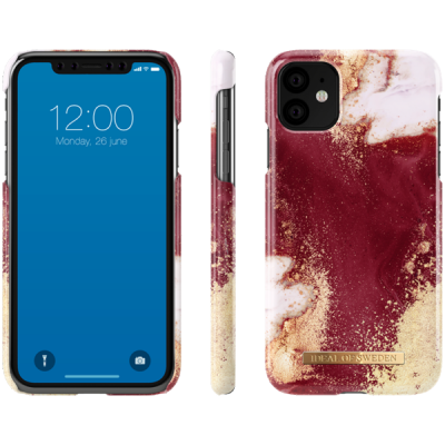 iDeal Of Sweden Fashion Case iPhone 11 Golden Burgundy Marble iPhone 11