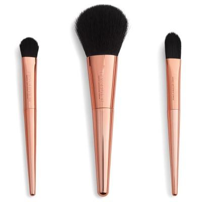 Revolution Makeup Reloaded Rose Gold Travel Brush Set 3 pcs