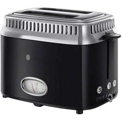 Russell Hobbs 21681-56 Retro Black 2 Slice Toaster 1 stk