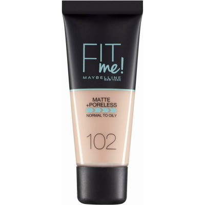 Maybelline Fit Me Matte & Poreless Foundation 102 Fair Ivory 30 ml