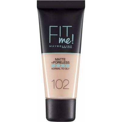 Maybelline Fit Me Matte & Poreless Foundation 102 Fair Ivory 30 ml