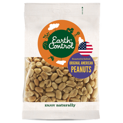 Earth Control Roasted & Salted Peanuts 220 g