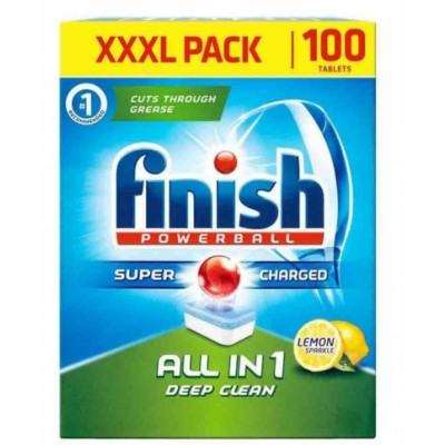 Finish Powerball All-In-One Deep Clean Lemon 100 st