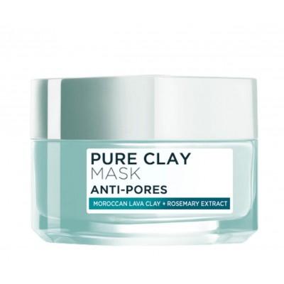 L'Oreal Pure Clay Anti-Pores Face Mask 50 ml