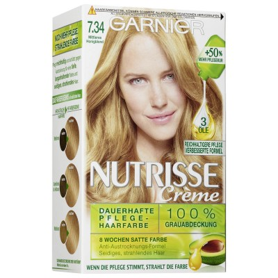 Garnier Nutrisse Creme 7.34 Dark Honey Blonde 1 stk