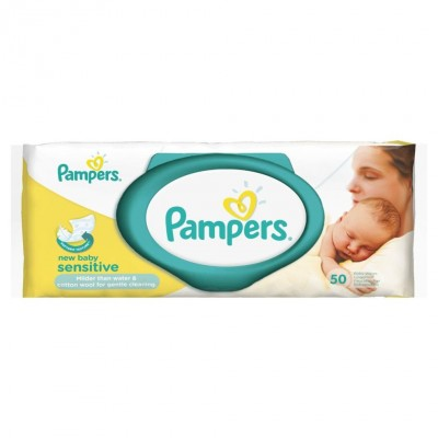 Pampers Sensitive New Baby Wipes 50 st