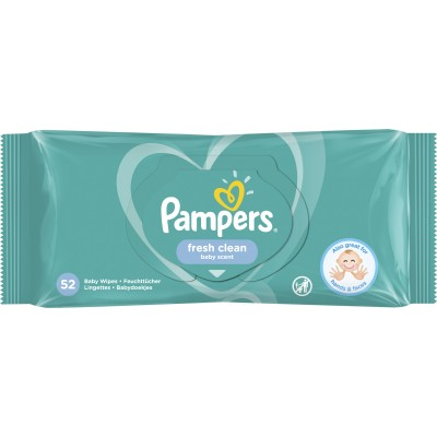 Pampers Baby Wipes Fresh Clean Baby Scent 52 st