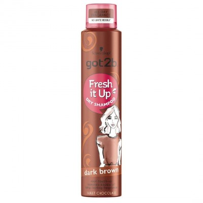 Schwarzkopf Got2b Fresh It Up Dark Brown Dry Shampoo 200 ml