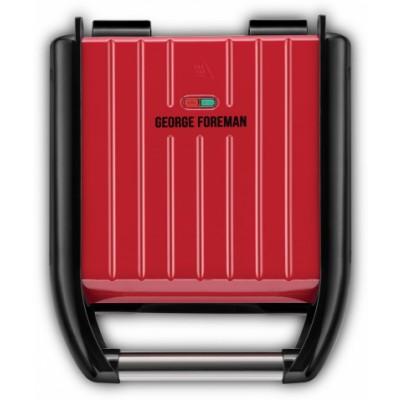 George Foreman 25030-56 kompakti teräsgrilli Punainen 1 kpl