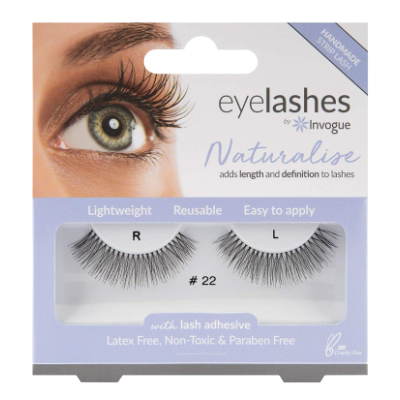 Invogue Naturalise False Eyelashes 22 1 par