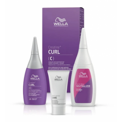 Wella Creatine Curl Kit Sensitive Hair 100 ml + 75 ml + 30 ml