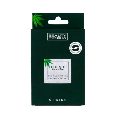 Beauty Formulas Organic Hemp Oil Eye Gel Patches 6 par