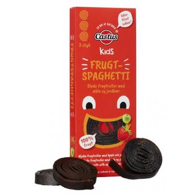 Castus Kids hedelmäspagetti Omena & Mansikka 30 g