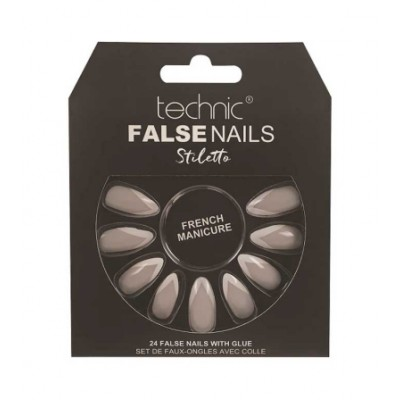 Technic False Nails Stiletto French Manicure 24 st