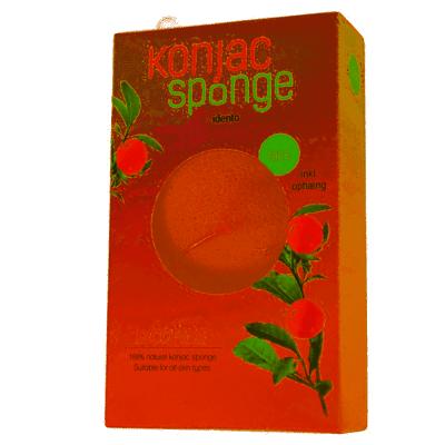 Konjac Sponge Face Halfball Lycopene 1 kpl